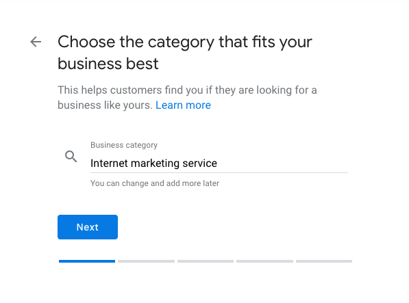 Choose your Business Category